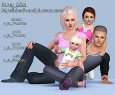 Family pose pack by Inna_Lisa at Sims 3 Models - Sims 3 Finds