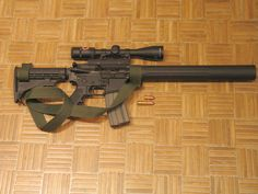 Integrally suppressed Socom .458