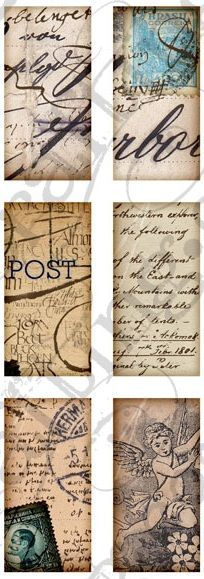 With close-ups of script, stamps, and postcard designs, Calico Collage's set of 24 digital tags will add a nostalgic, vintage flair to any mixed-media or paper crafting project. Use them to infuse a background with texture, or piece them together to create an old, well-traveled suitcase look!