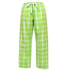 Boxercraft Lime Plaid Flannel Tie Cord Pants for Sports, Lounging, Teams Small-Lime Boxercraft. $22.00