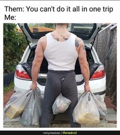 Carrying ALL the groceries