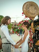 """The Tradition At This Wedding Is Totally Amazing #refinery29  http://www.refinery29.com/tulum-wedding#slide-4  """"We had the ceremony at a boutique hotel called Coqui Coqui. We loved the design and vibe of the hotel and loved that we wouldn't have to worry about 'dressing'  the environment."""""""