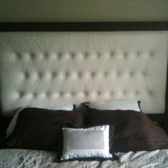 My upholstered headboard project!! I WANT TO MAKE THIS!