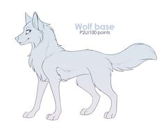 Wolf base by Mistrel-Fox on DeviantArt