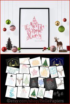 Christmas Decoration last minute gift ideas by BellePapiers
