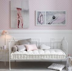 ballerina room, I like the mini day bed Teen Girl Rooms, Little Girl Rooms, Girls Bedroom, Bedroom Decor, Ballerina Bedroom, Ballet Room, Ballerina Art, Daybed Mattress, Dance Rooms