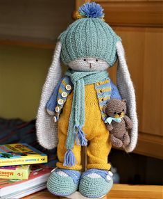 Knitting / Crochet pattern Outfit for Bunny Rabbit Boy Peter