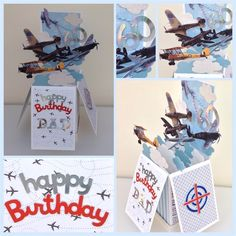 Pop up box card   docrafts.com ~ what a great card for a boy or man!