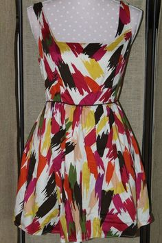DRESS! Women's Dress Twenty One 21 size M print 100% cotton  #TwentyOne