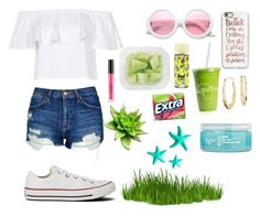 """""""Summer day"""" by fabfashionindya ❤ liked on Polyvore featuring Casetify, Converse, Topshop, ZeroUV, Blue Nile, H2O+, Dot & Bo and Stila"""