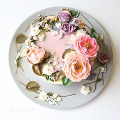 """Blooming Blossoms® on Instagram: """"Beautiful Flower Cake"""""""