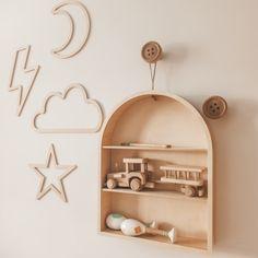 Plywood, Wall Decor, Wall Shelves, Room Inspiration, Bookcase, Kids Room, Rainbow, Home Decor, Hardwood Plywood