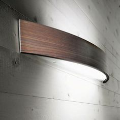 Shop Now CURVE WOOD Wall Lights Linea Light and we'll deliver you these Italian wall light fittings FREE of charge – Modelight Quality Designer Lighting Wooden Wall Lights, Led Wall Lights, Wooden Walls, Harrison House, Wall Light Fittings, Curved Wood, Interior Concept, Interior Design, Wood Stone