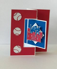 This Baseball Birthday Card/Gift Card Holder adds a special touch when giving a gift card. When the recipient opens the card the center portion flips to reveal a baseball themed gift card holder. This card is constructed from quality products. Finish size of folded card /gift card