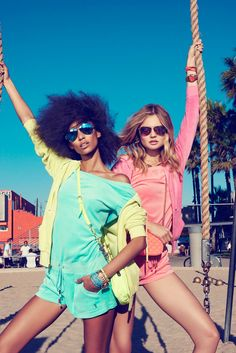 Magdalena Frackowiak + Anais Mali Hit Venice Beach for Juicy Couture - in front of Claudia Knoepfel and Stefan Indlekofer's camera