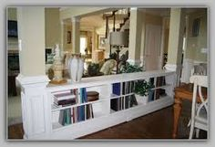 Another photo place holder- While I'm thinking of those half-walls in the foyer,. Another photo place holder- While I'm thinking of those half-walls in the foyer, why not put two, Bookshelves In Living Room, Bookshelves Built In, My Living Room, Living Room Interior, Built Ins, Book Shelves, Bookcases, Low Bookcase, Wall Bookshelves