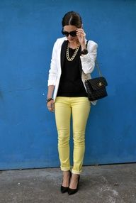 yellow pants womens - Pi Pants
