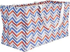 Amazon.com - Household Essentials 2216 Krush Canvas Utility Tote   Reusable Grocery Shopping Bag   Laundry Carry Bag   Chevron, Large - Delivery Bag, Bag Cake, Gift Card Shop, Utility Tote, Produce Bags, Reusable Grocery Bags, Carry On Bag, Bag Storage, Canvas Tote Bags