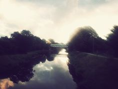 An evening on the canal