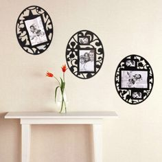 Set-of-3-Wall-Room-Decoration-Removable-Reusable-Photo-Frame-Stickers-Black