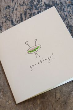 What a great idea! Pencil shavings #birthday #card #paper #stationery #alien available in-store or via telephone on 01614382500 £2.99