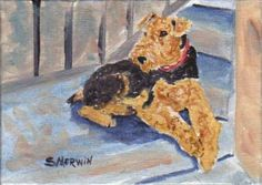 """Airedale Terrier Art: """"Waiting to Greet You"""" Airedale Terrier Art ...   airedaleterrierart.blogspot.com-425 × 301-Search by image """"Waiting to Greet You"""" Airedale Terrier. About This Painting: One of the things that makes Airedales so wonderful is that they wait to greet and are excited"""
