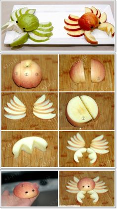 DIY Fruit Art Series – 5 Apple Cut Tutorials | www.FabArtDIY.com LIKE Us on Facebook ==> https://www.facebook.com/FabArtDIY