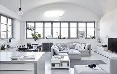 Fiona's Scandi-style minimal living room.