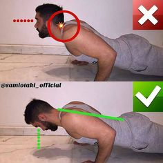 correctness of push-up from the floor
