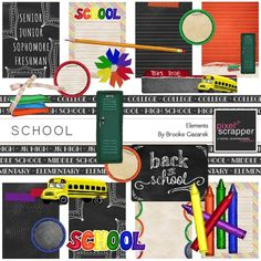 School Elements Kit by Brooke Gazarek | Pixel Scrapper digital scrapbooking