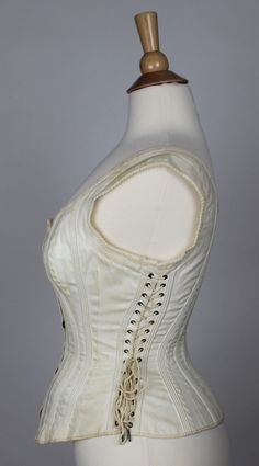 d2ced4a966f Antique Comfort Corset Side Lacing Maternity Sports or Riding Corset 1875  1885