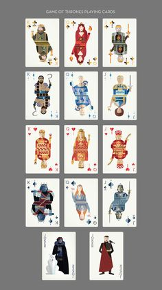 """These Illustrated """"Game Of Thrones"""" Playing Cards Are Amazing Playing Cards Art, Custom Playing Cards, Playing Card Games, Game Of Thrones, Graphic Design Illustration, Illustration Art, Girl Illustrations, Earl Moran, Harry Potter Fan Art"""