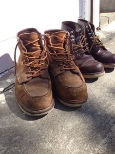 Worn in Red Wing boots