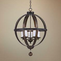 "breakfast.  Savoy House Alsace 24"" Wide Reclaimed Wood Pendant Light - #3M991 | LampsPlus.com"