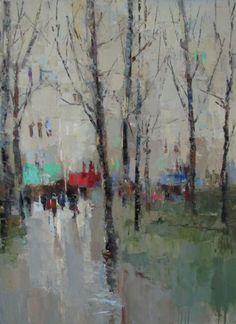 Barbara Flowers, 'Paris through the Trees', Oil on Canvas, 48x36 - Anne Irwin Fine Art