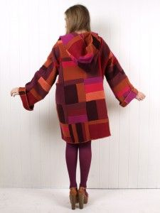 free instructions how to sew a coat from recycled jumpers