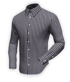 Men's white and blue check shirt. White, blue and black lines ...