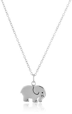 Sterling Silver Elephant Pendant Necklace, 18' -- Details can be found at http://www.amazon.com/gp/product/B0140W033M/?tag=jewelry163-20&pno=200716082944