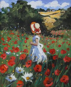 Gelindik ve küçük kız Landscape Art, Paintings I Love, Painting Inspiration, Art Pictures, Painting & Drawing, Flower Art, Watercolor Paintings, Art Projects, Art Drawings