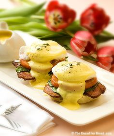 Eggs Benedict. Happy breakfast times, click through for a stellar muffin recipe.