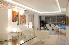 Sala de estar decorada por Mantovani e Rita.