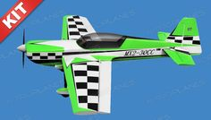 Nitro Model 4 Ch. MX2 3D Aerobatic 30CC Gas Plane Kit 1860mm Wingspan (Green)