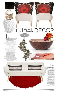 """Tribal Decor"" by ittie-kittie ❤ liked on Polyvore featuring interior, interiors, interior design, home, home decor, interior decorating, Diane James, CreativeMary, Mario Luca Giusti and L'Objet"
