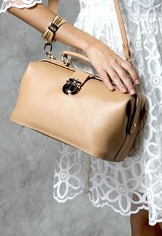 Genuine Cow Leather Doctor Bag - Beige or Red