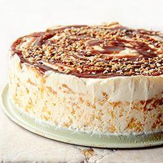 Jogurtowy tort lodowy z karmelem - Kwestia Smaku