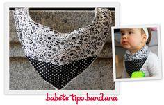 Badana baby bib. Costumizable with your baby's name initial. $6. For sale here http://www.facebook.com/mu.xi.cu - muxicu.handmade@gmail.com