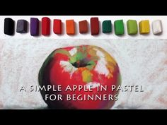Painting lesson of an apple in Pastel with a limited palette for beginners - YouTube