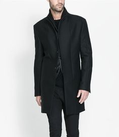 FAUX LEATHER OVERCOAT - Jackets - Man - New collection | ZARA United States