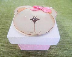 Caixa 5x5 Ursinha Rosa
