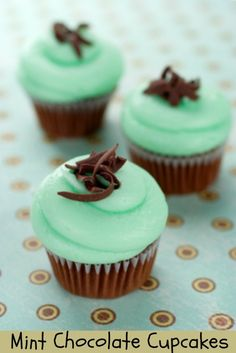 Mint Chocolate Cupcakes. Relish the freshness of mint with the moisture rich goodness of chocolate in these cupcakes. #mint #chocolate